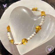 Mother Of Pearl & Amber Bracelet